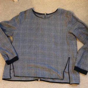 Zara basic zippered back blouse  XL